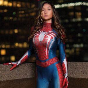 Spider-Woman Jumpsuit Cosplay Costume Spiderman Bodysuit Adult & Kids Halloween