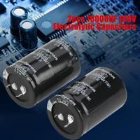 2pcs/Set 10000uF 100V High Quality Electrolytic Capacitor 100 Volt 105℃ 35*50mm