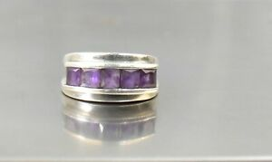 CrazieM Sterling 925 Silver Vintage Southwestern Estate Ring Size 5 6.2g x30