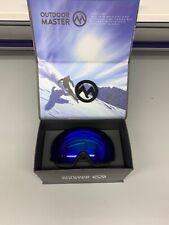 UNISEX Ski Snowboard Goggles PRO BLUE Frameless W/CASE YH110 OutdoorMaster NICE