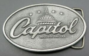Capitol Records Music Recording Industry Indiana Metal Craft Vintage Belt Buckle