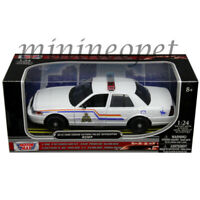 MOTORMAX 76483 2010 FORD CROWN VICTORIA ROYAL CANADIAN POLICE CAR 1/24 WHITE