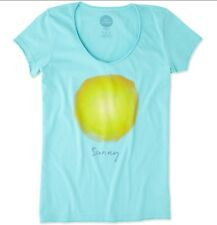 BRAND NEW! Life is Good Women's Smooth Fitted Tee *size Sm* Sunny sun