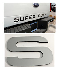 Chrome 2008 - 2016 Ford F250 Super Duty Premium Tail Gate Inserts ABS Letters