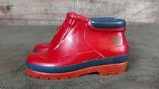 Toddler Unisex Boys Girls SOREL Red Rubber 'Little Drizzle Zip' Rainboots Sz 10