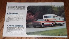 ★★1976 CHEVY CREW CAB PICKUP TRUCK ADVERTISEMENT PHOTO AD GMC MOTOR HOME★