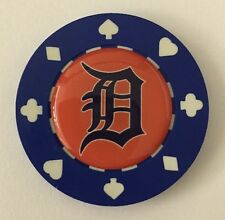 Detroit Tigers Poker CHIP CARD GUARD Protector, Poker Weight MLB Poker Chip