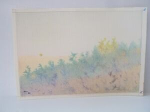 ⭐Israel Vintage Pencil Art Landscape Drawings By YOLA Signed Original Colored ⭐