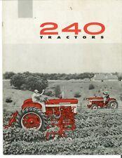 Ih Mccormick Farmall 240 Row Crop Tractor Brochure International Harvester