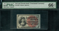 Fr-1259 $0.10 Fourth Issue Fractional Currency - 10 Cent - PMG 66 EPQ