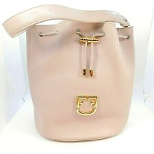 Furla Corona Dalia Beige Leather Small Drawstring Handle & Crossbody Bucket Bag
