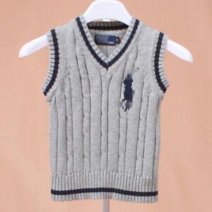100% Cotton kids Tank Top Boys Girls Children's Knit Tank Top waistcoat 1-6 Y