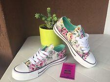 Scarpe sneakers donna GOOD YEAR originali NUOVE 36 / 39 bianche a fiori