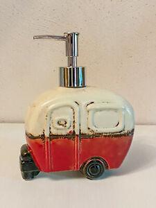 Clayre & Eef Badezimmer Seifenspender Campingwagen Keramik