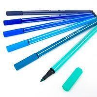 STABILO PEN 68 Fibre Tip Pens – Assorted Set of 6 Colours – Aqua Tones
