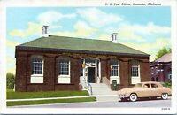Roanoke Alabama Post Office 1930 Postcard Randolph County