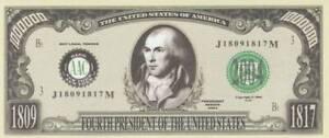 Bankbiljet billet Amerikaanse presidenten - 04 - James Madison 1809/1817