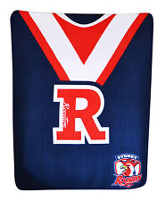 LARGE Licensed NRL  Rugby League Sydney ROOSTERS Polar Fleece Throw Blanket