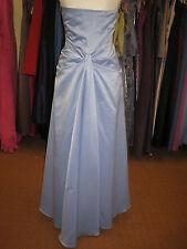 DEBUT/DEBENHAMS CORNFLOWER BLUE BUSTLE LONG BRIDESMAID/PROM/BALL GOWN DRESS 8/10