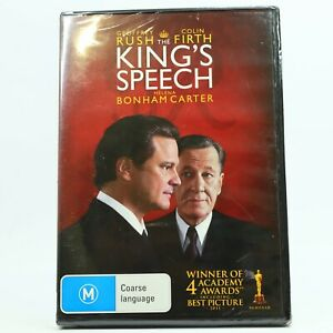 The King's Speech DVD Colin Firth Geoffrey Rush New Sealed