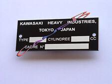 PLAQUE   CONSTRUCTEUR     KAWASAKI   Z1