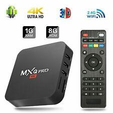 MXQ Pro 4K Ultra HD 1+8G Wifi Android 7.1 Quad Core Smart TV Box Media Player US