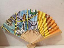 ancien eventail fan abanico ventaglio papier bande dessinee bd
