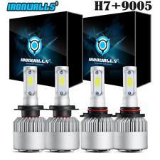 Combo 9005+H7 LED High Low 4Pcs Headlight Kit 1300W Light Bulb Conversion 6000K