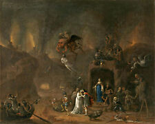 Pieter Fris Orpheus and Eurydice in the Underworld  Wall Art  Canvas