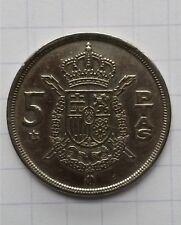 Espagne 5 peseta 1975 . Juan carlos . TTB