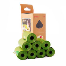 8 Rolls/120PCS Biodegradable Dog Poo Bags Disposable Thick Pet Waste Garbage Bag