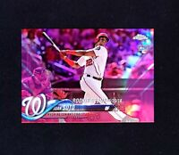 2018 Topps Chrome Update JUAN SOTO PINK REFRACTOR ROOKIE DEBUT RC HMT98 MINT