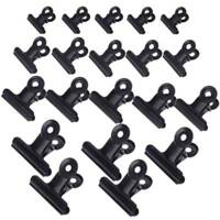 5pcs Mini Bulldog Stainless Steel Paper Metal Letter Clips Clamp