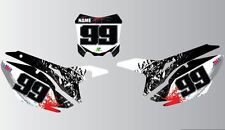HONDA CRF/CR 85 125 150 250 450 BACKGROUND GRAPHICS-NUMBER BOARD STICKER-DECAL