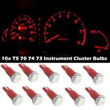 10x Red Led Bulbs T5 70 73 74 For Mitsub Instrument Dashboard Gauge Speedo Light
