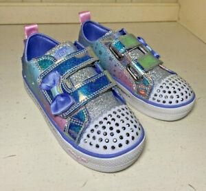 Skechers Crystal Stars Ssport Toddler Girls Light Up Sneakers Size 12 glitter