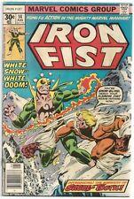 IRON FIST #14 VG 1st SABRETOOTH APPEARANCE! Key Marvel