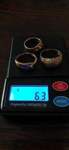 10 kt Scap Gold Rings, wear or scrap