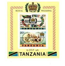 Tanzania - Scott 180a Royal Wedding Overprint - Souvenir Sheet - MNH