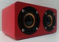 Diffusore Bluetooth Oqan QBT-100 - Cassa Multimedia Mini Speaker - Colore Rosso