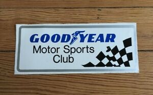 Vintage Good Year Motor Sports Club Bumper Sticker Racing Decal