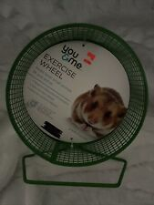 6.75 inch Green Metal Exercise Wheel Mouse, Hamster, Gerbil