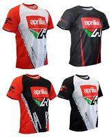 Aprilia T-shirt Maglietta Camiseta Moto Biker Gift Motorcycle Motorbike RSV4