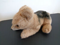GUND German Shepherd 1985 Plush VINTAGE Stuffed Animal Dog Brown 20 Inches