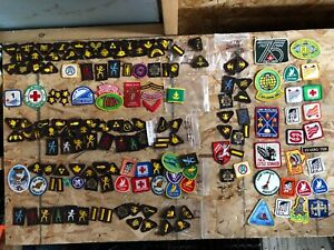 Vintage Scouts beavers girl guides patch bsc huge lot