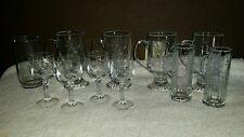 Set Of 11 Princess House Heritage Glasses Coffee Shot etc RARE RETIRED