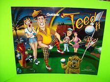 Tee'd Off Original 1993 Gottlieb NOS Pinball Machine Translite Art Golfing Theme