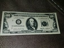 Retro 1985 Hundred $100 MAGNET bill money board fridge refrigerator souvenir j94
