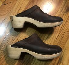 No. 6 Store Clogs Shoes 39 Leather Brown Sven Boho Anthropologie Bona Mule