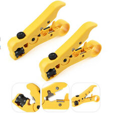 2 Pcs Universal Cable Wire Jacket Stripper Cable Cutter Stripping Scissors Tool